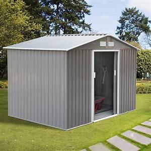 Outsunny, 9, U0026, 39, X6, 3, U0026, 39, Garden, Storage, Shed, W, Floor, Foundation, Outdoor, Patio, Yard, Metal, Tool, Storage