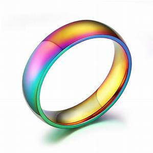 6mm wide gay pride rings jewelry rainbow wedding rings for With gay pride wedding rings