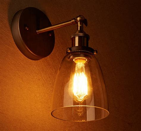 loft vintage industrial edison wall ls clear glass wall sconce warehouse wall light fixtures