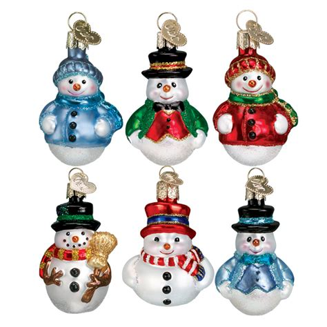 old world christmas ornaments snowmen