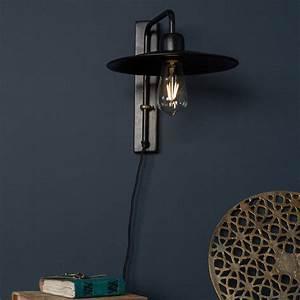 Applique Metal Noir : applique design m tal noir fouk dutchbone by drawer ~ Teatrodelosmanantiales.com Idées de Décoration