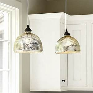 Mercury glass pendant shade adapter recessed can light