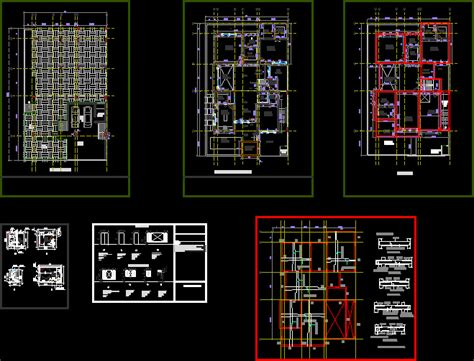 residence complete working drawing  kb bibliocad