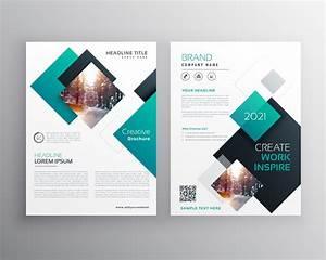 Modern Blue Brochure Cover Design Annual Report Flyer