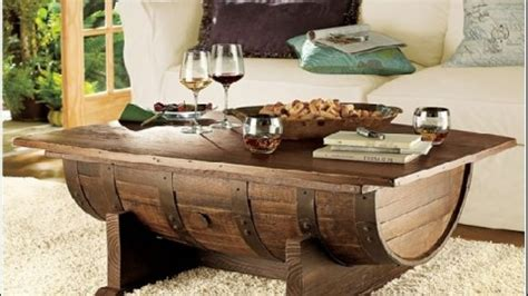 Wine Barrel Coffee Table  Wonderful Woodworking