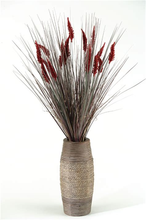 artificial tall onion grass  dogstail  vase