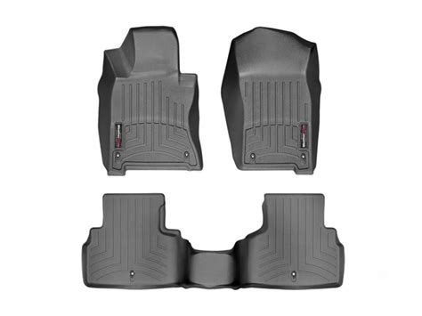 2015 Infiniti Q50 Floor Mats by 2014 2015 Infiniti Q50 Front And Rear Floorliners Black