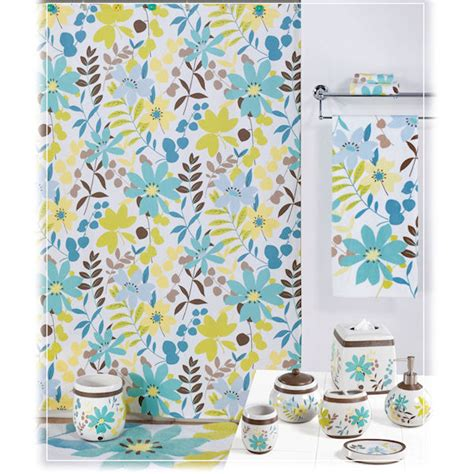 paradise shower curtain bath accessories by creative