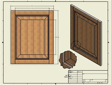 realistic  drawings  cabinet doors  cad