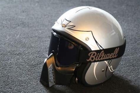 Biltwell Helmet & Goggles Minus That Horrible Face Mask