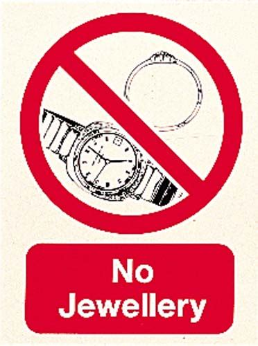 NO JEWELLERY SIGN - Signs / Displays / Posters - J. P ...