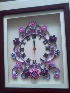 344 best quilling clocks images on pinterest quilling for 3d quilling wall clock