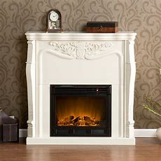 Clearance Indoor Electric Fireplace Ivory White Fa5655e Ebay