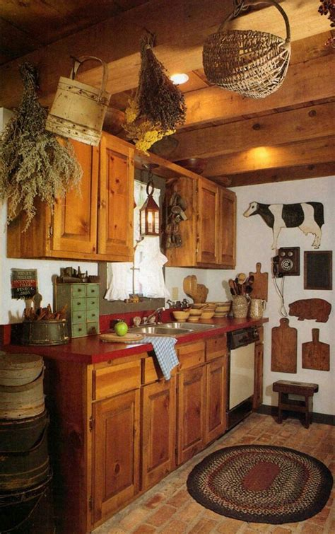 Best Primitive Country Rustic Kitchens Images