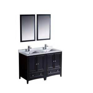 fresca oxford 48 in vanity in espresso with