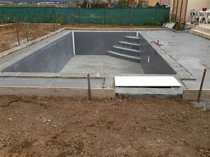construction d39une piscine beton arme banche unibeo par With plan de piscine beton