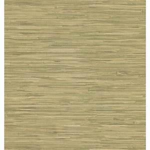 Brewster Faux Grasscloth Leaf Wallpaper