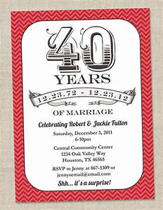 Wedding invitation wording 40th wedding anniversary for Free printable 40th wedding anniversary invitations