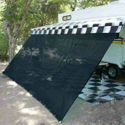 rv awning shade complete kit sun patio screen motor home camper trailer   ft ebay