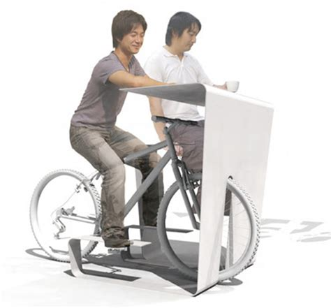 store muu s cycle in desk transforms your bike into a