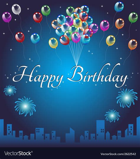 Winter Birthday Background by Happy Birthday Background Royalty Free Vector Image