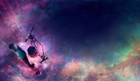 Anime Wallpaper Deviantart - yuumei artwork telescope galaxy
