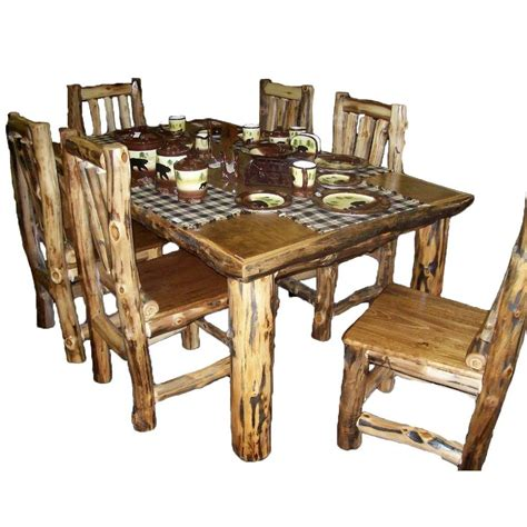 furniture kitchen tables rustic kitchen table set country log cabin wood