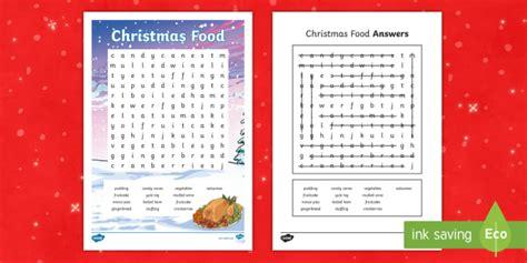 * New * Ks2 Christmas Food Word Search  Christmas Word Search