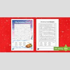 * New * Ks2 Christmas Food Word Search  Christmas Word Search Printable