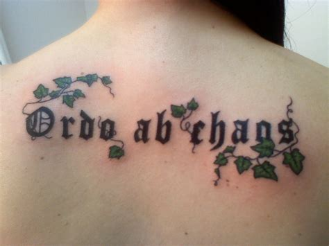 ordo ab chaos tattoo picture