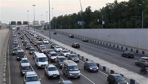 MOSCOW, RUSSIA - 2013: Every Day Traffic Jam, In The End ...