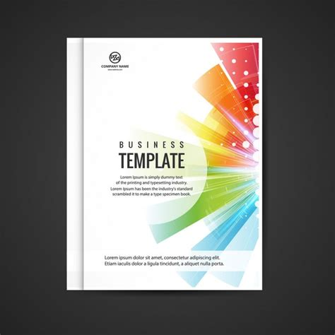 Company Booklets Templates by Colorful Business Booklet Vector Free Download