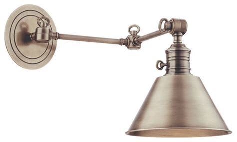 garden city 1 light wall sconce with swing arm traditional swing arm wall ls by hudson