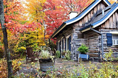 quebec canada fall cabin instagram most hotel popular fairy log tale getaway quintessence travelblissnow mont tremblant