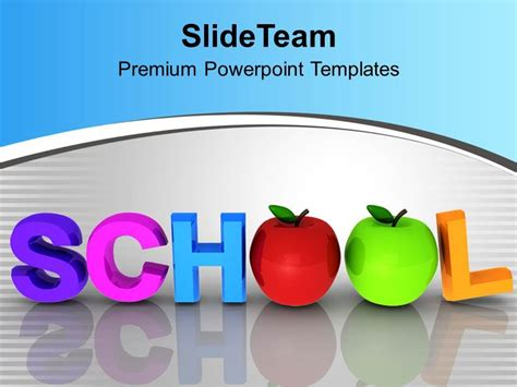 Powerpoint Template For Education by Free Powerpoint Templates Education Theme Word School With