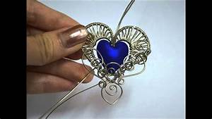 Gothic Heart Wire Wrapped Pendant Time Lapse Process Video
