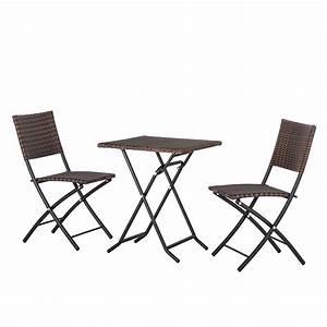 Balkon set twosome 3 teilig aus polyrattan online kaufen for Französischer balkon mit bartisch set garten