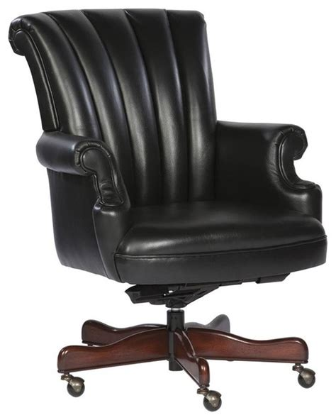 leather executive chair w arms black black