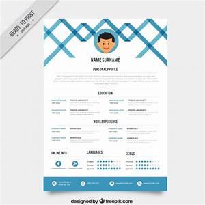blue creative resume template vector free download With free vector resume template