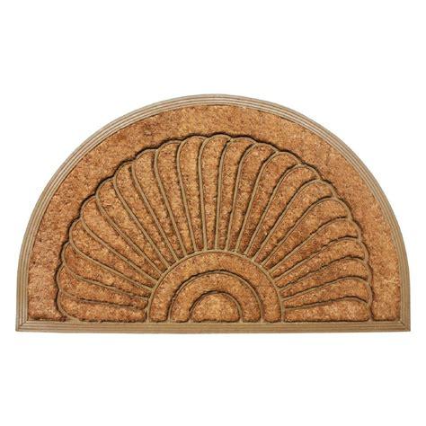 24 x 36 doormat sunburst 24 in x 36 in coir rubber back outdoor doormat
