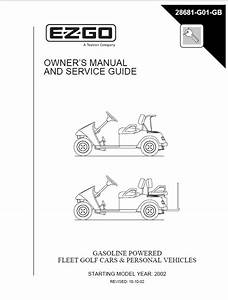 Ez Go Owners Service Guide Manual 2002 Golf Car