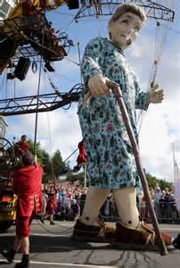 Giant Puppet Parade in Liverpool
