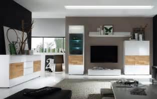 wohnzimmer weiß wohnzimmer elion weiss eiche wohnwand 310cm kommode wohnzimmereinrichtung neu ebay