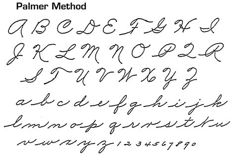 Which Hand Is Most Similar To The Cursive Americans Were Taught In School Around 19861992