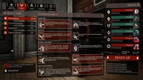 killing floor 2 perks killing floor 2 guide how to play a berserker commando medic and support killing floor 2