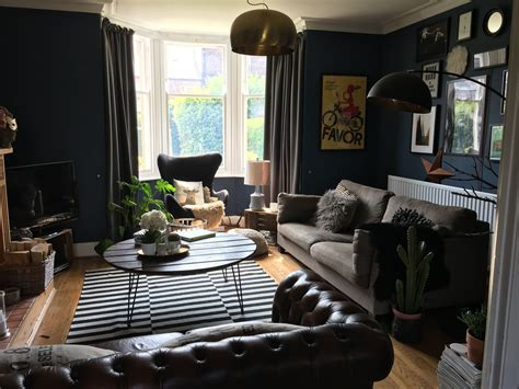 Htons Blue Living Room by Interiors Living Room Painted With Farrow And