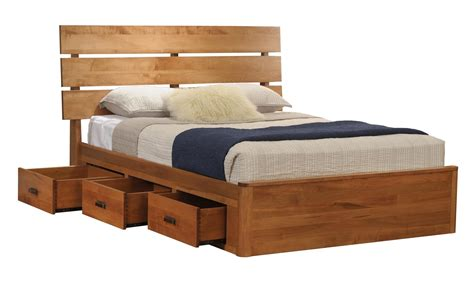 platform bed with drawers galaxy slat platform bed with drawers from dutchcrafters