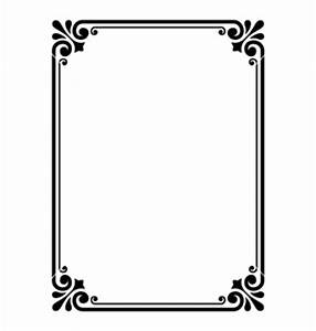 Simple ornamental decorative frame vector 652257 - by ...
