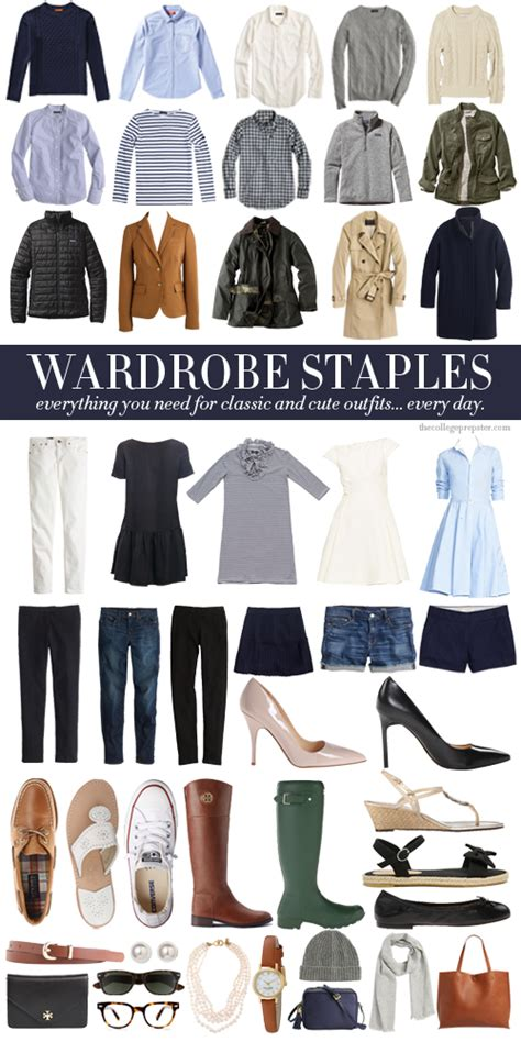 Wardrobe Staples  The College Prepster
