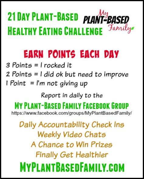 21 Day Plantbased Healthy Eating Challenge  My Plant